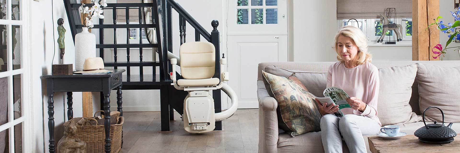 handicare custom curved stairchair